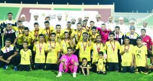 اليوم العربي والسويق في نهائي بطولة كأس أوربك لكرة القدم بشمال الباطنة