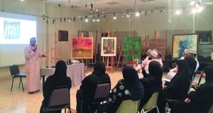 حلقة فنية تستعرض تاريخ الفنون التشكيلية بوزارة التراث والثقافة