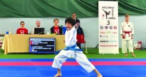 3 ميداليات لـ هشام البوسعيدي في بطولة هلسنكي المفتوحة للكاراتيه
