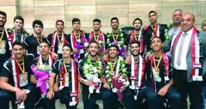 استقبال حافل لمنتخب ناشئي كرة اليد المصري في القاهرة إثر تتويجه بكأس العالم