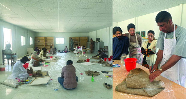 موسى عمر يقدم حلقة حول التقنيات المعاصرة في الفن التجريدي بباكستان
