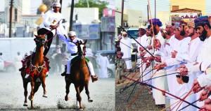 احتفالات شعبية وتراثية وترفيهية بعدد من قرى عبري وينقل