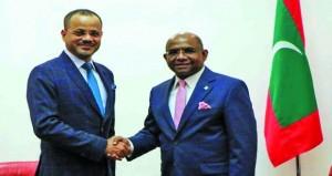 أمين عام وزارة الخارجية يلتقي بوزير الخارجية المالديفي