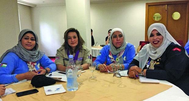 مرشدات السلطنة تبرز إنجازات النهضة في أعمال المؤتمر الاقليمي العربي الـ(٢٢) بتونس
