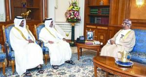 وزير ديوان البلاط السلطاني يودع السفير القطري