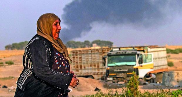 """هلع ونزوح مع بدء """"عدوان"""" تركيا على سوريا"""