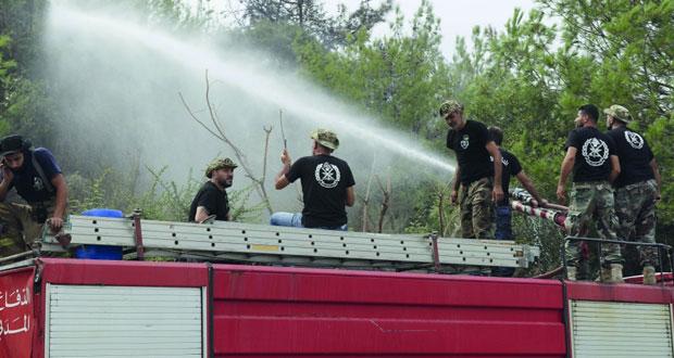 عشرات الحرائق في لبنان .. ولا أضرار بشرية