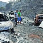 استمرار الحرائق في لبنان