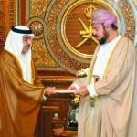 أسعد بن طارق يتسلم رسالة من ولي عهد أبو ظبي ويستقبل السفير الياباني