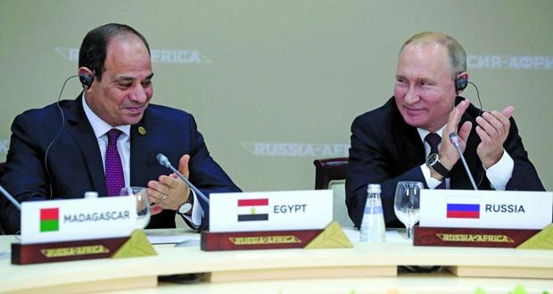 بوتين: التبادل التجاري مع دول إفريقيا تجاوز الـ 20 مليار دولار