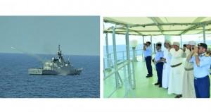 قائد البحرية السلطانية العمانية يتابع فعاليات التمرين البحري (أسد البحر)