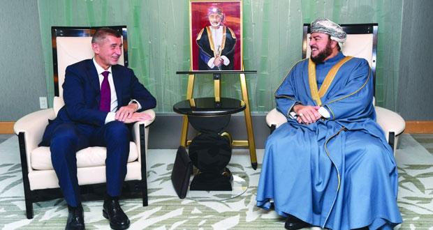 أسعد بن طارق يستقبل رئيس وزراء جمهورية التشيك