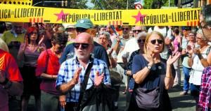 احتجاجات في كتالونيا بذكرى استفتاء الانفصال