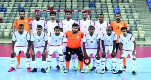 اليوم .. بعثة منتخبنا الوطني لكرة القدم للصالات تتوجه إلى البحرين للمشاركة في التصفيات الآسيوية