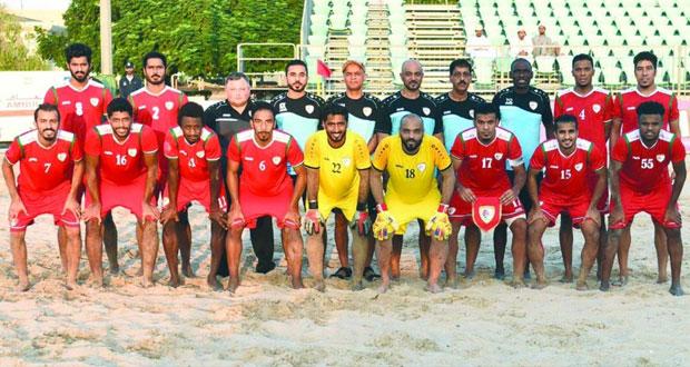 منتخبنا الوطني لكرة القدم الشاطئية ينهي معسكره الداخلي