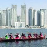 الفريق العماني للتجديف يشارك في سباقات كأس دبي لقوارب التجديف