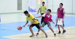 اليوم .. ختام مسابقات ثلاثيات كرة السلة ضمن الأيام الرياضية المدرسية