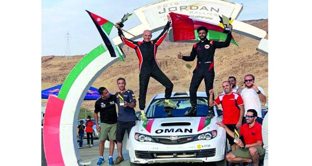 عبدالله الرواحي يتألق ويحرز لقب رالي الأردن الوطني