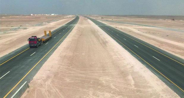 """""""النقل"""" تفتتح 27 كم من ازدواجية طريق أدم ـ ثمريت"""