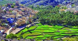 مشهد بصري لقرية بلاد سيت الواقعة بين أحضان الجبال
