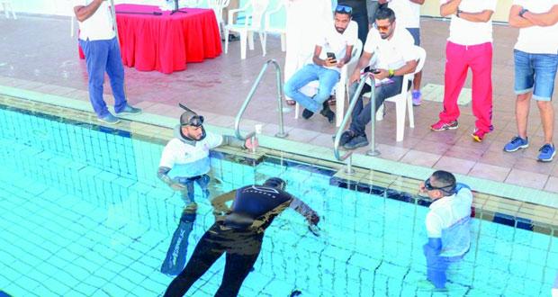 ختام بطولة عمان الأولى المفتوحة للغوص الحر والرماية تحت الماء