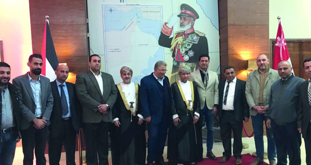 سفارة السلطنة في فلسطين تقيم حفل استقبال بمناسبة العيد الوطني الـ(49) المجيد