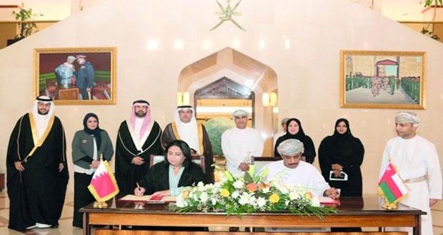 التوقيع على اتفاقية تبادل الأراضي للبعثات الدبلوماسية بين السلطنة والبحرين