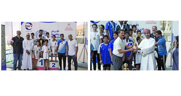 الشؤون الرياضية تحتفل بتتويج الفائزين في بطولة السباحة للمدارس الخاصة والدولية