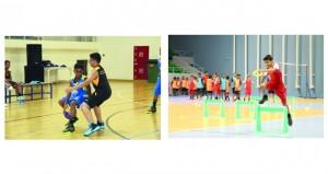ختام فعاليات مهرجانات مراكز إعداد الناشئين لألعاب القوى وكرة السلة واليد