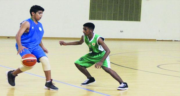 خمس مباريات في دوري الأشبال لكرة السلة في الأسبوع التاسع