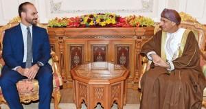 رسالة شفهية لجلالة السلطان من الرئيس البرازيلي