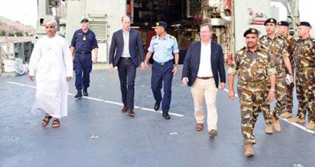 الأمير وليام دوق كامبريدج يصل السلطنة فـي زيارة تستغرق ثلاثة أيام