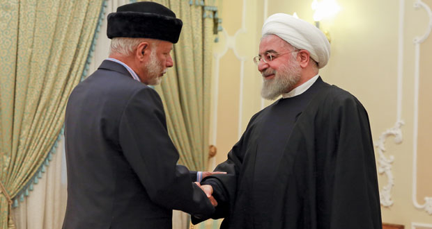 الرئيس الإيراني يستقبل ابن علوي