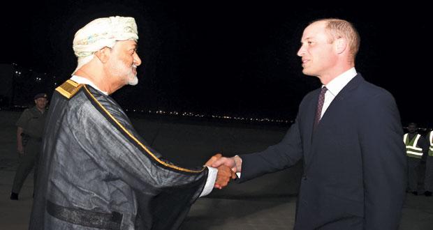 هيثم بن طارق يستقبل الأمير وليام