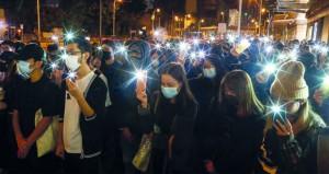 مسيرات احتجاجية وصدامات مع الشرطة في هونج كونج