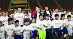الشؤون الرياضية تنظم فعالية البرنامج الرياضي الترفيهي للمشاركين في الاجتماع العالمي لمنظمة الصحة العالمية