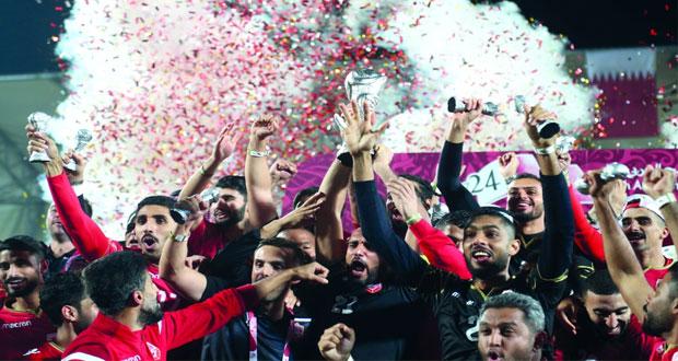 البحرين ترفع كأس الخليج لأول مرة في تاريخها
