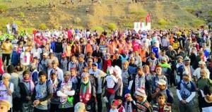انطلاق فعاليات مسير وادي شافان الثاني بالخابورة