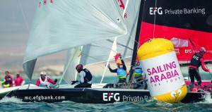 """انطلاق منافسات النسخة العاشرة لسباقات الطواف العربي للإبحار الشراعي """"أي.أف.جي"""""""