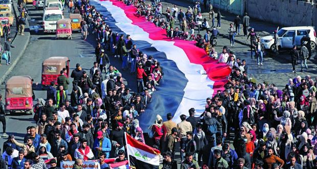 العراق: إصابة عشرات المحتجين باشتباكات مع قوات الأمن
