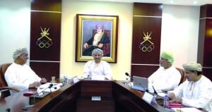 المكتب التنفيذي لمجلس إدارة اللجنة الأولمبية يعقد اجتماعه الأول