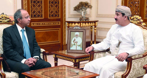 وزير المكتب السلطاني يستقبل نائب مستشار الأمن الوطني الهندي