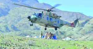 سلاح الجو السلطاني العماني ينقل مساعدات لأهالي بلدة صيا بقريات