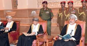جلالة السلطان يحضر ختام عزاء الراحل جلالة السلطان قابوس بن سعيد بن تيمور