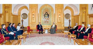جلالة السلطان يستقبل ملك بلجيكا ومبعوث الرئيس الإيطالي