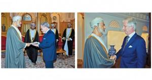 جلالة السلطان يستقبل ملك بلجيكا ويتلقى رسالة من الرئيس الأميركي