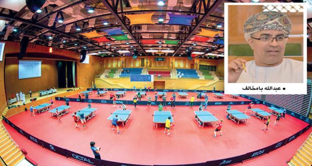 اكتمال التحضيرات لانطلاق منافسات بطولة عمان الدولية الثانية لكرة الطاولة (التحدي بلس)