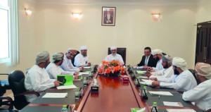 رئيس الادارة العامة للتفتيش القضائي يلتقي رؤساء وقضاة محاكم الظاهرة