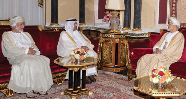 جلالة السلطان يستقبل أمين عام مجلس التعاون