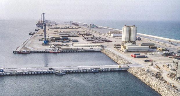 إنجاز أكثر من 80 بالمائة من أعمال مشـروع ميناء الدقم .. والتشغيل الفعلي أغسطس القادم